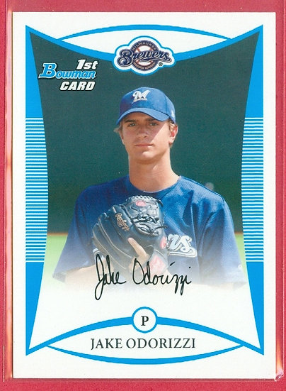"""Jake Odorizzi"" 2008 BOWMAN RC CARD #BDPP51"