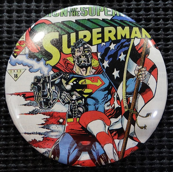 """CYBORG SUPERMAN"" POP CULTURE 3"" PINBACK/PIN-BACK COMIC BUTTON"