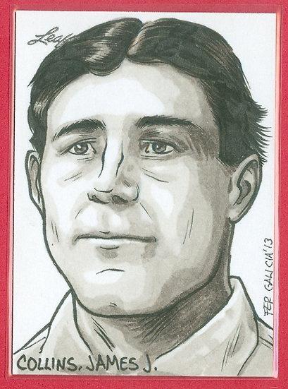 """""""Jimmy James Collins"""" LEAF 1/1 SKETCH ARTWORK CARD"""