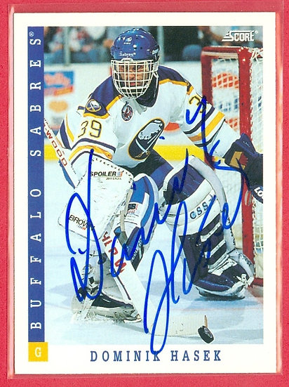 """""""Dominik Hasek"""" IN PERSON/THROUGH THE MAIL AUTO"""