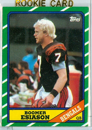 "1986 TOPPS FOOTBALL ""Boomer Esiason"" RC CARD #255"