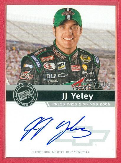 """JJ Yeley"" NASCAR SP AUTOGRAPH CARD #d 009/100"