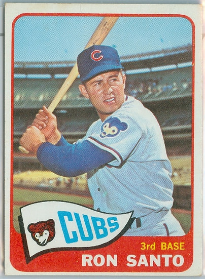 """Ron Santo"" VINTAGE 1965 TOPPS BASEBALL CARD #110"