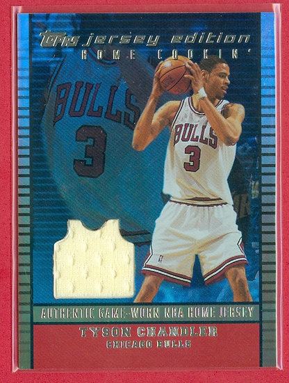 """""""Tyson Chandler"""" SP JERSEY RELIC CARD #'ed 103/299"""