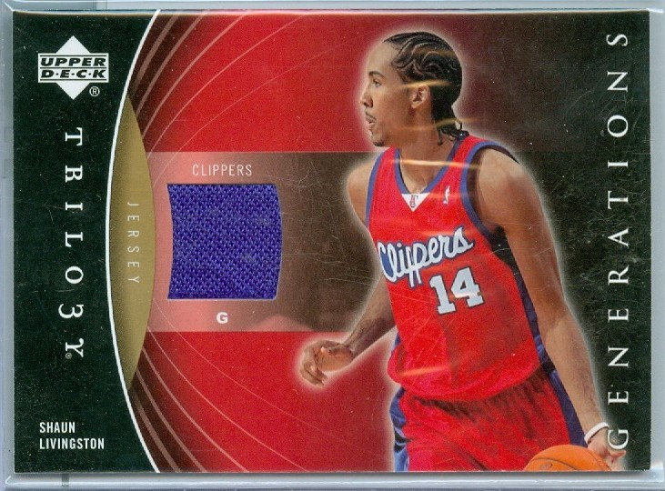 """""""Shaun Livingston"""" SP GAME-USED JERSEY CARD"""