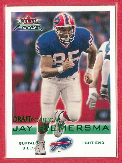Jay Riemersma 2000 FLEER FOCUS RC CARD #d 551/735