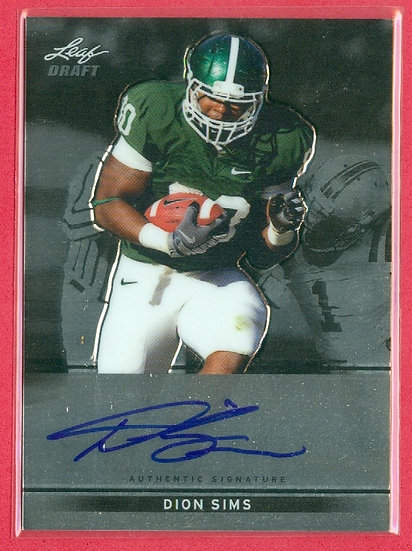 """""""Dion Sims"""" SP RC CHROME AUTOGRAPH CHASE CARD"""