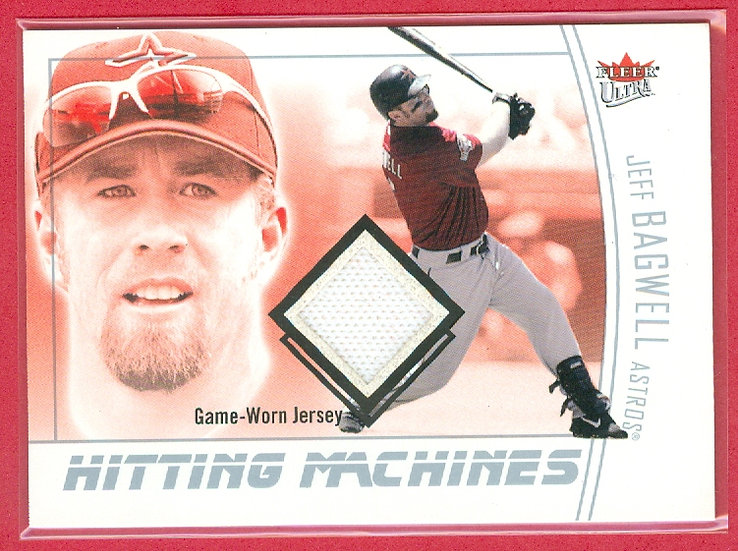 """""""Jeff Bagwell"""" SP GAME JERSEY RELIC CARD #HM-JB"""