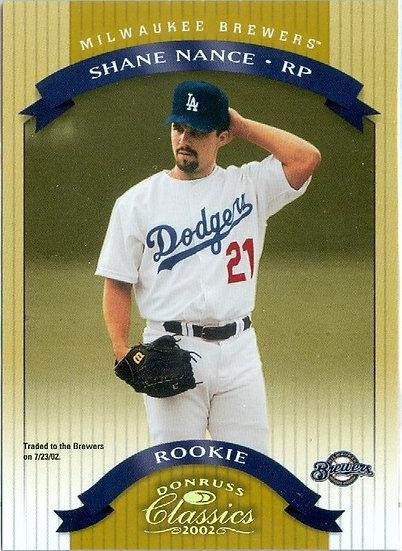"""""""Shane Nance"""" SP ROOKIE/RC Card #d 0021/1500"""