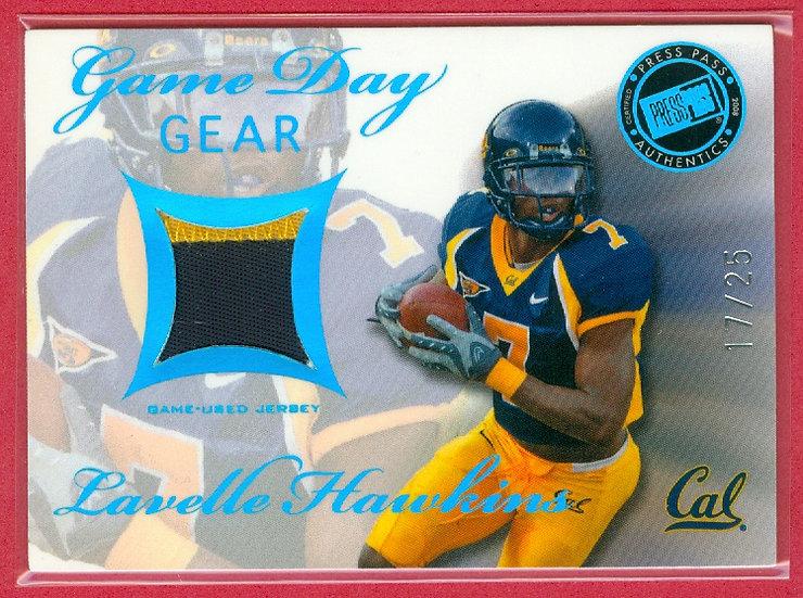 Lavelle Hawkins SSP JERSEY PATCH RC CARD #d 17/25