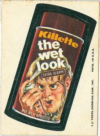 """1974 WACKY PACKAGES """"Killette"""" STICKER / TAN BACK"""
