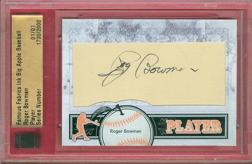 """Roger Bowman"" SSP CUT SIGNATURE CARD #'ed 01/01"