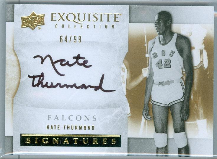 """""""Nate Thurmond"""" AUTHENTIC AUTOGRAPH CARD #d 64/99"""