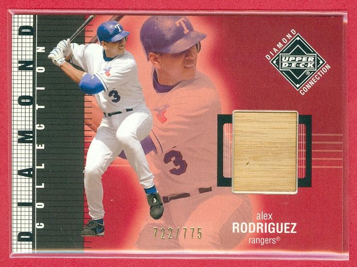 """""""Alex Rodriguez"""" SP GAME BAT RELIC CARD #d 722/775"""
