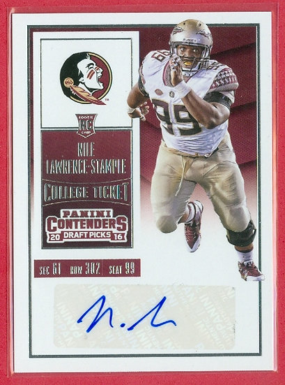 Nile Lawrence-Stample PANINI SP RC AUTO CARD #280