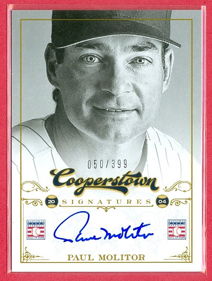 """Paul Molitor"" HOF SP ON-CARD AUTOGRAPH #d 050/399"