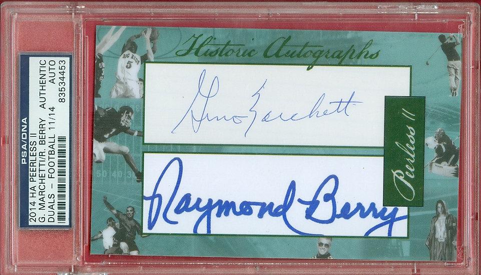 Gino Marchetti/Raymond Berry CUT AUTO CRD #d 11/14