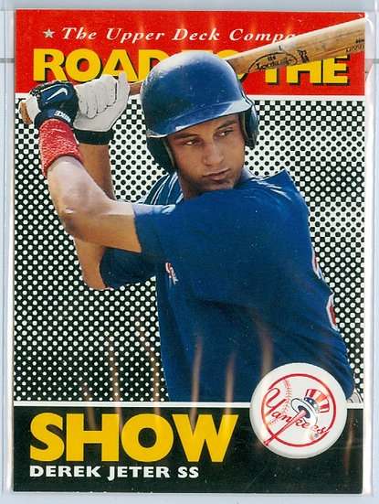 """""""Derek Jeter"""" ROAD TO THE SHOW ROOKIE/RC Card #165"""