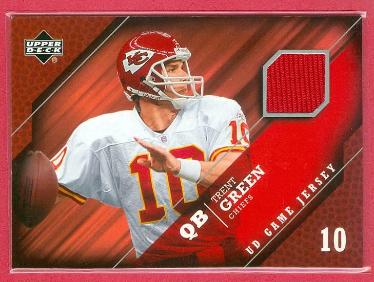 """""""Trent Green"""" GAME-USED JERSEY CHASE CARD #GF-TG"""