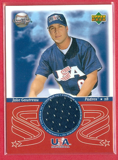 """""""Jake Gautreau"""" SP USA JERSEY RELIC CARD #USA-JG"""
