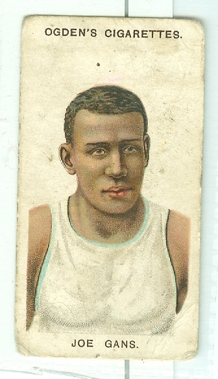 "1908 ""Joe Gans"" PUGILISTS/WRESTLERS TOBACCO CARD"