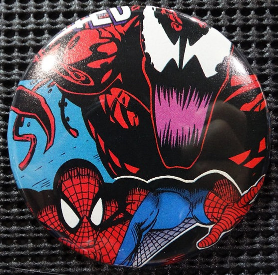 """SPIDER-MAN/CARNAGE"" POP CULTURE 3"" PINBACK/PIN-BACK COMIC BUTTON"