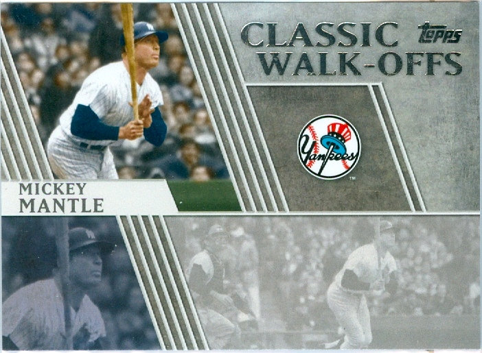 """Mickey Mantle"" SP CLASSIC WALK-OFFS Card #CW-7"