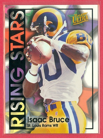 """Isaac Bruce"" 1997 FLEER ULTRA CHASE CARD #10 RS"