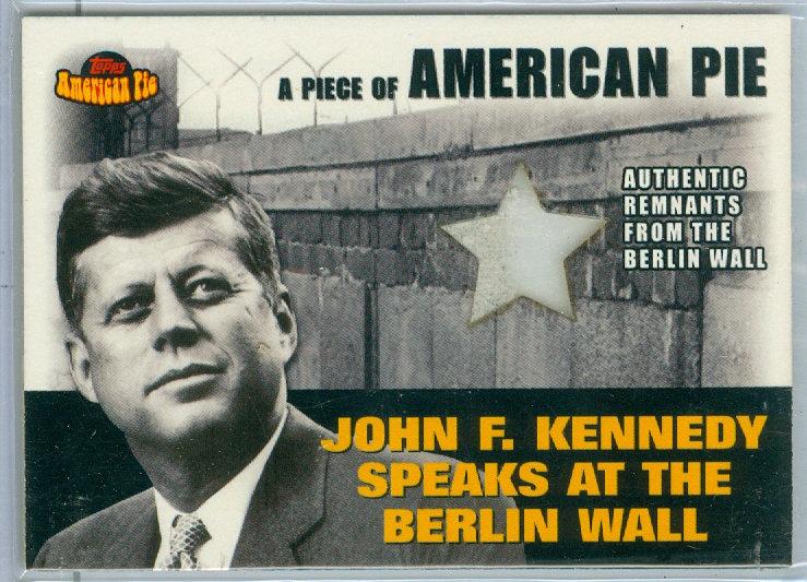 """""""President John F. Kennedy"""" BERLIN WALL RELIC CARD"""