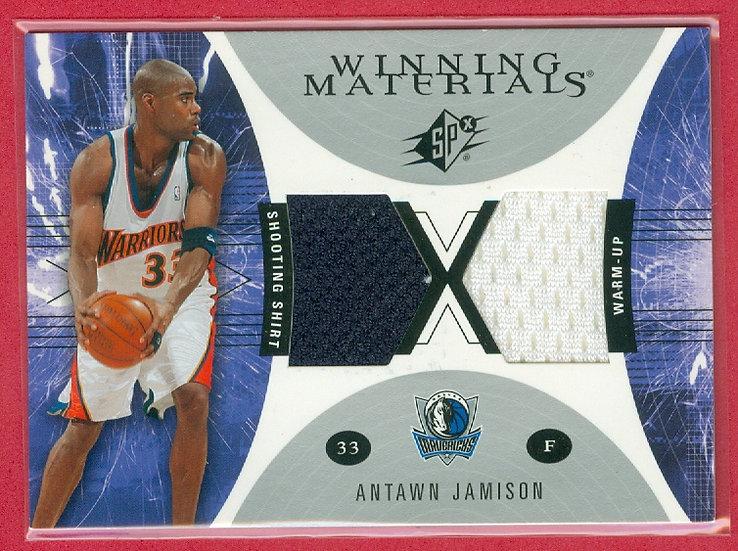 Antawn Jamison DOUBLE SHOOTING SHIRT/WARM-UPS CARD
