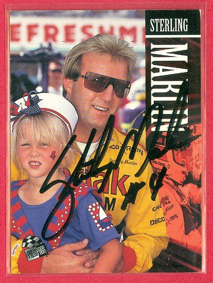 """""""Sterling Marlin"""" IN PERSON/THROUGH THE MAIL AUTO"""