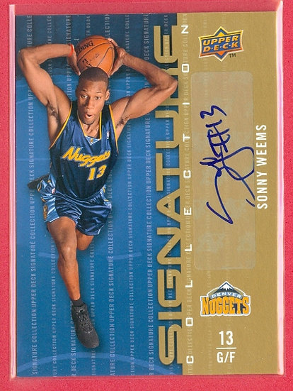 """Sonny Weems"" SP 2nd YEAR AUTOGRAPH CHASE CARD"