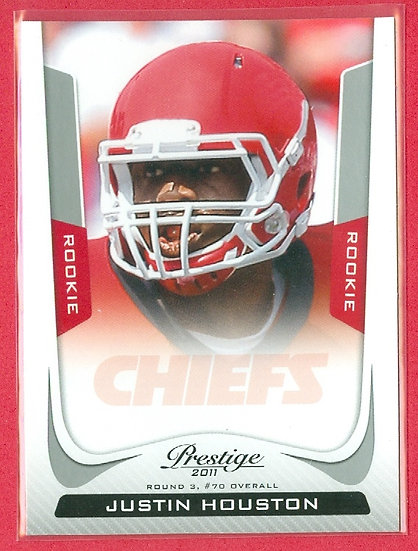 """Justin Houston"" 2011 PANINI PRESTIGE RC CARD #257"