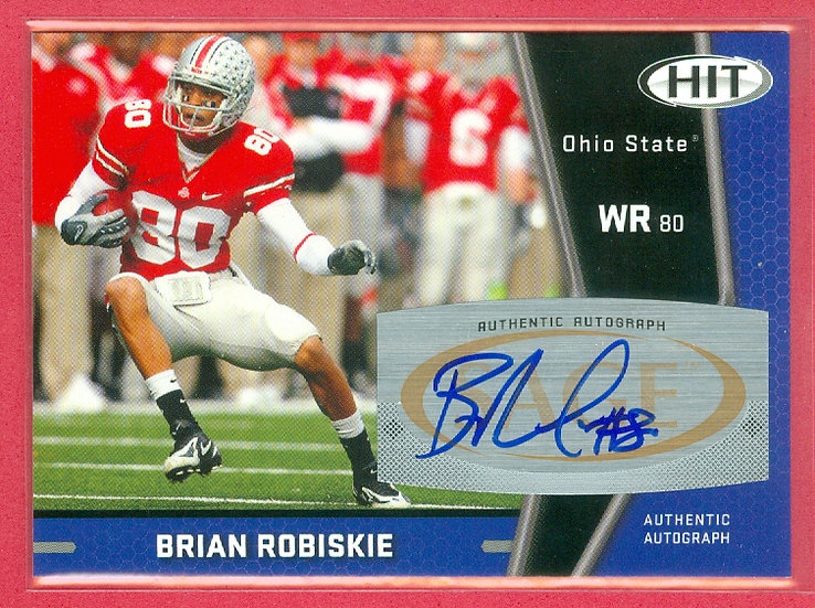 """""""Brian Robiskie"""" SP ROOKIE AUTOGRAPH CHASE CARD"""