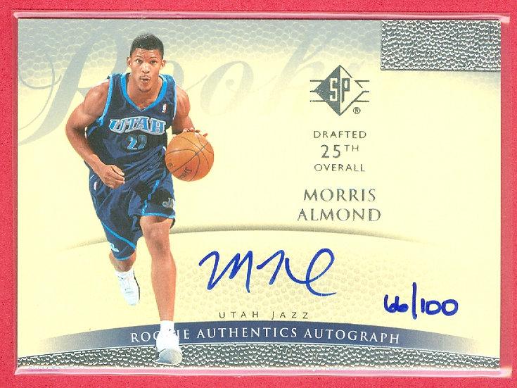 """""""Morris Almond"""" SP RC AUTOGRAPH CARD #'ed 66/100"""