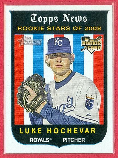 """""""Luke Hochevar"""" 2008 TOPPS HERITAGE RC CARD #129"""