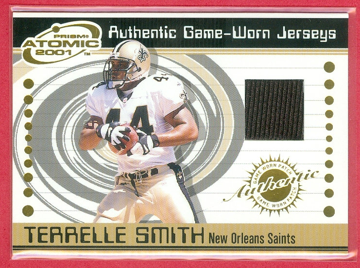 """""""Terrelle Smith"""" SP GAME-USED JERSEY CHASE CARD"""