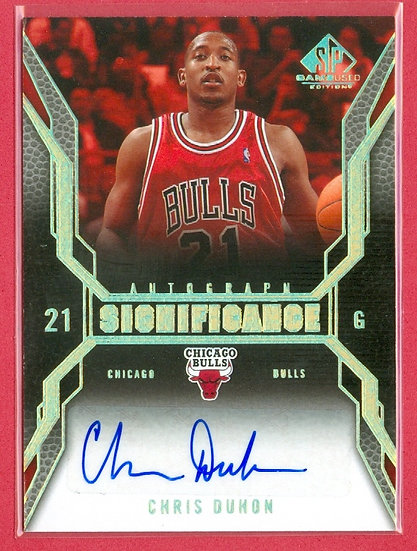"""""""Chris Duhon"""" SP GAME-USED AUTOGRAPH CHASE CARD"""