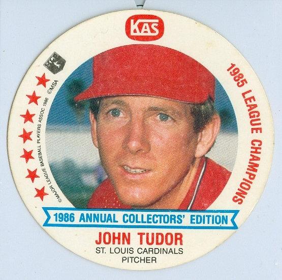 """1986 KAS """"John Tudor"""" DIE-CUT Disc Card #17"""