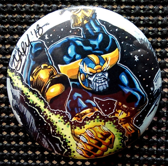 """THANOS"" ASM #300 HOMAGE POP CULTURE 3"" PINBACK/PIN-BACK COLLECTOR COMIC BUTTON"