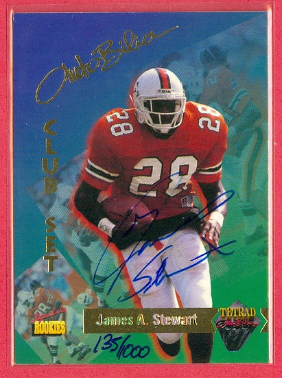 James A. Stewart SP RC AUTOGRAPH CARD #d 135/1000