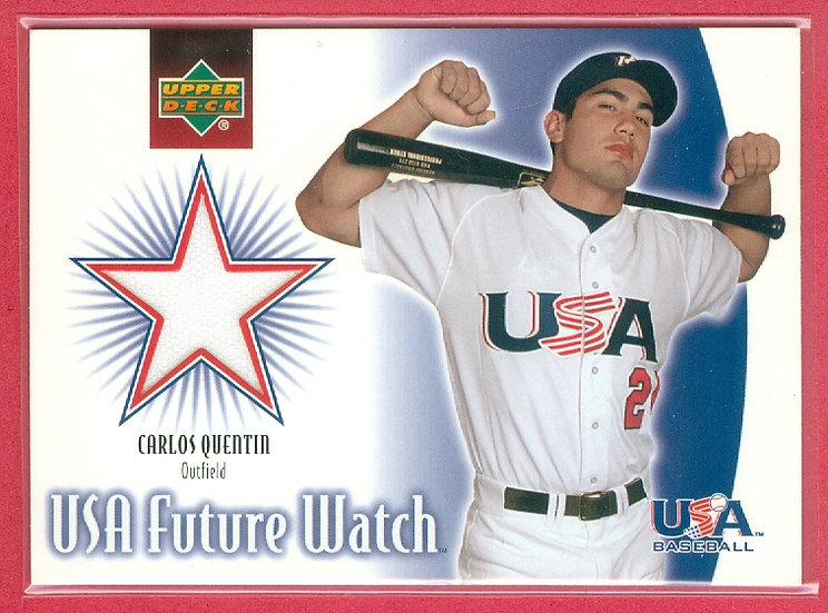 """""""Carlos Quentin"""" USA RC JERSEY RELIC CARD #US-CQ"""