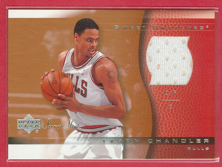 """""""Tyson Chandler"""" SP GAME-USED SHORTS RELIC CARD"""