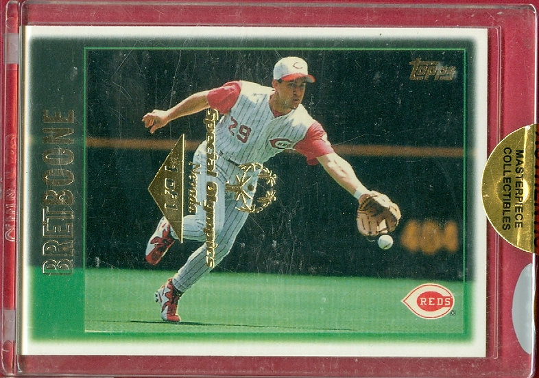 """""""Bret Boone"""" SSP SPECIAL OLYMPICS CARD #'ed 1 of 1"""