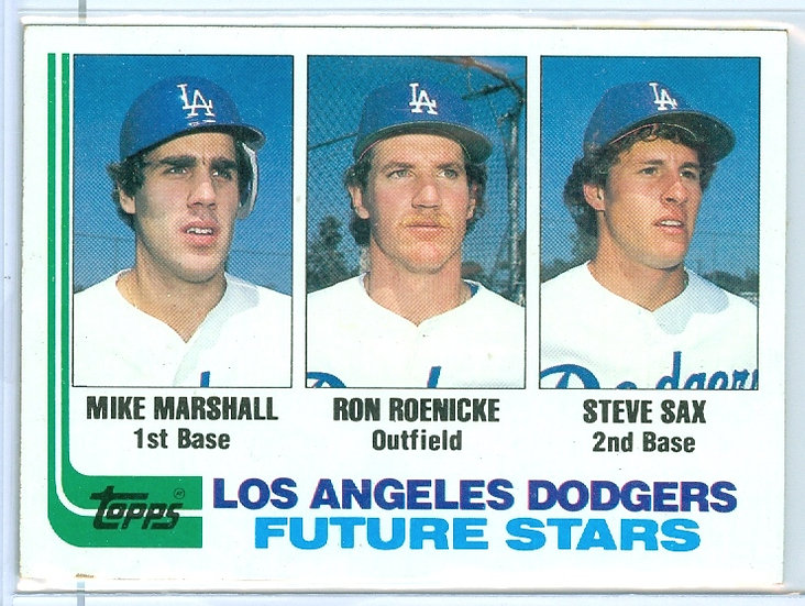 "1982 TOPPS ""Marshall/Roenicke/Sax"" RC Card #681"