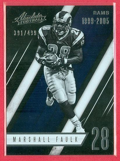 Marshall Faulk 2016 ABSOLUTE FOIL CARD #d 391/499