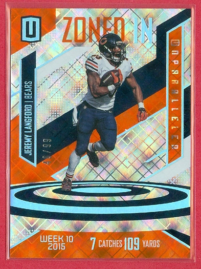 Jeremy Langford UNPARALLELED CHASE CARD #d 40/99