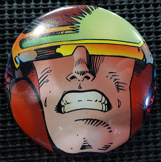 """SOLAR MAN OF THE ATOM"" POP CULTURE 3"" PINBACK/PIN-BACK COMIC BUTTON"