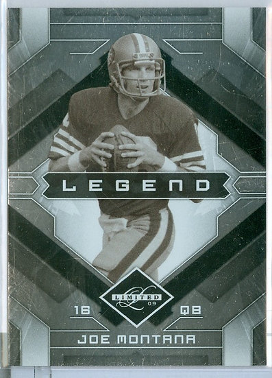 "2009 LIMITED ""Joe Montana"" SP FOIL CARD #d 117/399"