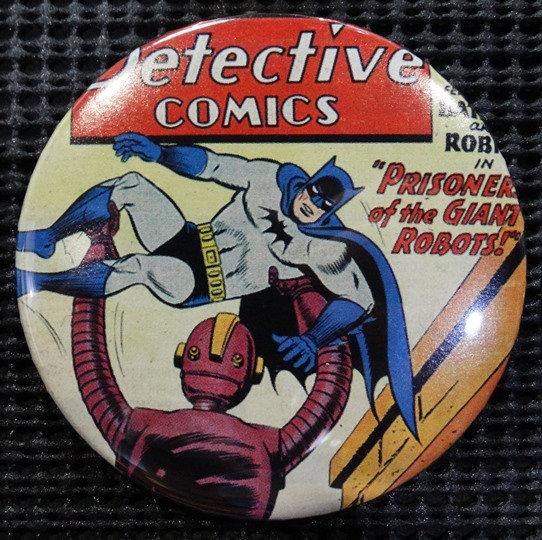 """BATMAN/JUSTICE LEAGUE"" POP CULTURE 3"" PINBACK/PIN-BACK COMIC BUTTON"